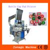 2 colors pad printing machine price for cap, electric automatic wine lid cap pad printer
