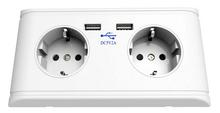 alibaba europe EU/UK/US Type dual double socket outlet uk usb wall socket 5V 2A usb outlet 15 amp switched socket