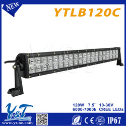 quad row led light bar Top Quality 120w LED WORK LIGHT straight 7.5Inch LED Light Bar
