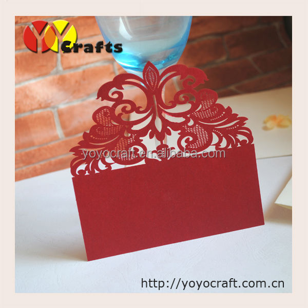 Printing service laser cut shine paper thank you card/RSVP cards/greeting card(the color and the size can be customized)