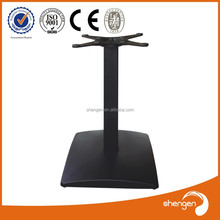 HD039 Square shape Black cast iron funiture legs industrial metal dining table legs