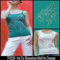 2015 Fashion Crystal Hot Fix Rhinestone Motif for T shirt