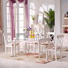 De madeira branca moderna sala de jantar conjunto de com aparador