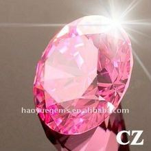 Pink Round Brilliant Cut CZ Glass Stone, Precious Stone , Fashion Jewelry/Synthetic Cubic Zirconia Wholesale