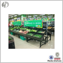 Oem Service supermarket Fruit And Vegetable Shelf With Wheels
