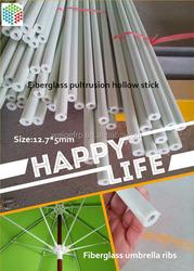 White Fiberglass rods Hollow tubes 12.7mm OD 5mm ID
