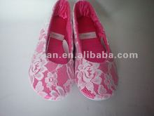 2012 new style soft outsole with lace ballet shoe