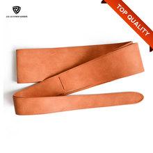 110mm Women's Soft Brown PU Fashion Obi Belt