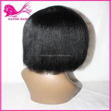 Eayon 100 human hair yaki straight full lace wig braided lace front wigs human hair grey lace front wig