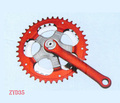 Baixo preço da bicicleta chainwheel/manivela da bicicleta manivela prata/direto da fábrica