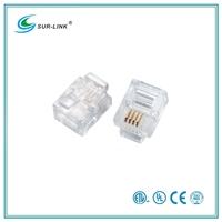 Cat 3 UTP 6P4C Plug