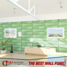 2015 new design light weight abs wall board, rich in color pvc slat board for wall