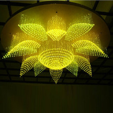 Can be any shapes and sizes glass ball pendant lamp with 7 kinds of color