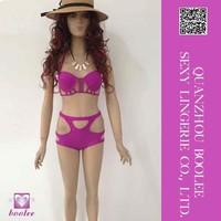 Newest fashion best quality Rotita Pierced Pattern Bra Match Thong Bikini