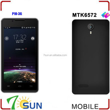 "4.5"" P10 MTK6572 Dual core Android 4.2 WIFI GPS 3G Mobile phone Smartphone bulk smart phone"