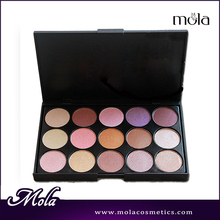 Wholesale makeup 15 color makeup eyeshadow palettes,eye shadow for blue eyes