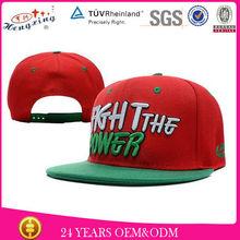 bordado personalizado en 3d por encargo de pico plano sombreros de venta al por mayor