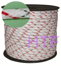 Temporary electric fence polyrope braided rope