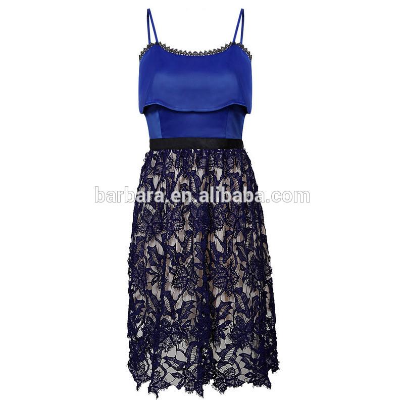 Verano vestido de pestañas, venta al por mayor mujer vestido de <span class=keywords><strong>azul</strong></span>, muchas nuevas acciones vienen a cabo