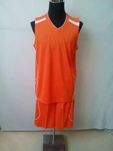 2015 Hot selling no logo sport sleeveless basketball sportwear set