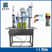 Semi-Automatic bag on valve non-toxic adhesive spray filling machine
