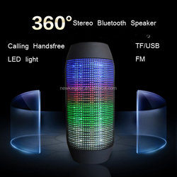 Latest craze Bluetooth stereo speaker pulse speaker subwoofer with led light