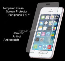 9H touch screen cleaner tempered glass screen protector For Iphone 6 mobile phone screen protector original anti-static HD