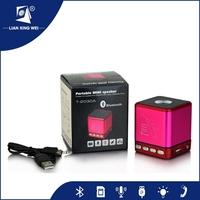 Hot Colorful gift design Portable wireless mini stereo sound bluetooth speaker box