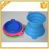 2015 New products wholesale Collapsible silicone pet bowl good for dog