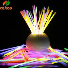 HOT!! fluorescent flashing stick bracelets lighting wand novelty toy glow sticks for Christmas celebration and wedding favours