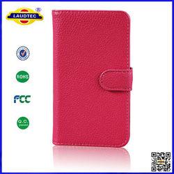Lichee Pattern Leather Wallet Flip Case for LG E960 Nexus 4 - Cover Pouch Laudtec