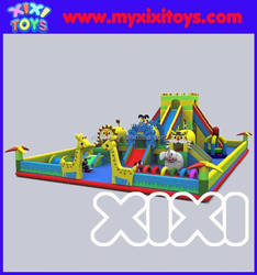 Outdoor inflatable playground for kids,large inflatable fun city