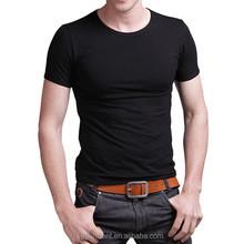 Hot Sale Mens plain black T shirt made in 100% Cotton