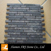 Black Basalt Stone Mosaic Stepping Stone Patterns