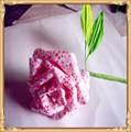 Subiu flores de papel flores artificiais e Mini Scrapbook flores