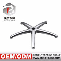 Modern aluminum alloy die-casting polish office chair parts