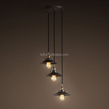 3/5/7/9 arms cascade type modern pendant lights helical black/white hanging wire chandelier