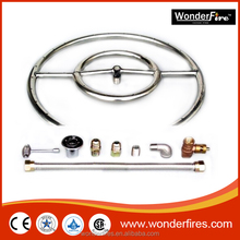 """6"""" 12"""" 18"""" 24"""" 30"""" 36"""" Stainless Steel Fire Pit Burner Ring KIT Natural gas"""