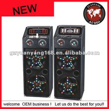 professional stage speaker active speaker system in dual 10 inch woofer with laser light