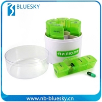 Promotional plastic 14 days pill box