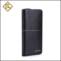 New unqiue mens pure leather business clutch wallet bag
