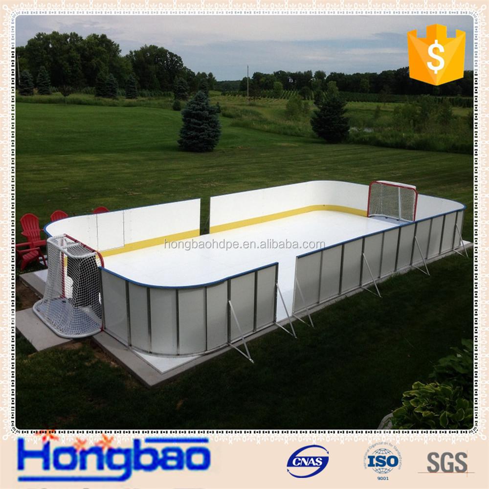 Synthetic Ice Rink Hockey Shooting Pad backyard Rink