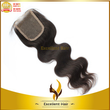 "Silk lace front closure 100% virgin indian hair bleached knots lace closure 8""-20"" Large stock"