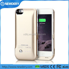 CE FCC certified backup battery charger case for iphone 6