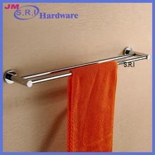 Modern good quality bathroom glass shower door double towel bar