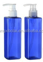 Square 250ml Clear lotion plastic cosmetic spray bottles For sale