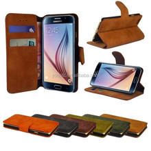 2015 OEM cheapest clamshell two mobile phones leather case for galaxy s6