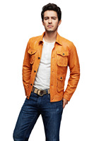 New Design High Quality Men Motorbike Sheep Hides Leather Jacket Cheap Price