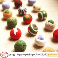 Wholesale Fashionable Colorful Felt ball