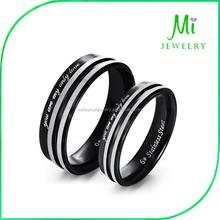 Couple lover New Fashion Wholesale couple black titanium wedding ring